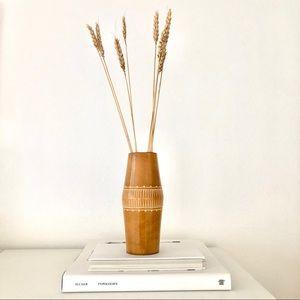 Vintage Wooden Vase